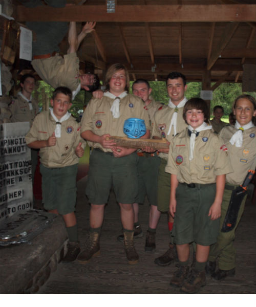 Winners of Summer Camp's Todd B Award for best in competition